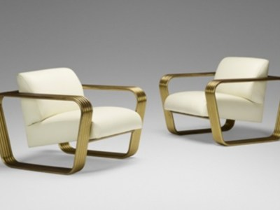A pair of lounge chairs ca.1975 by Jay Spectre