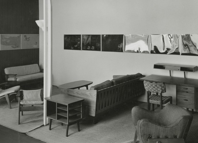 Installation view of the exhibition, _Organic Design in Home Furnishings_