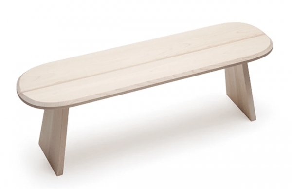 Single bench Designed by Wataru Kumano and Jasper Morrison
