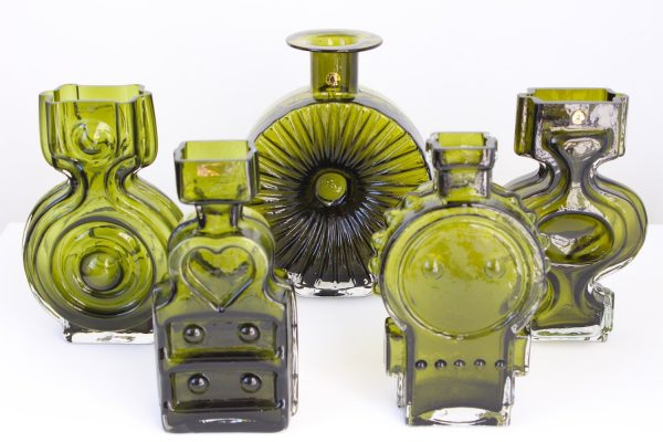 Set of 5 Helena Tynell vases