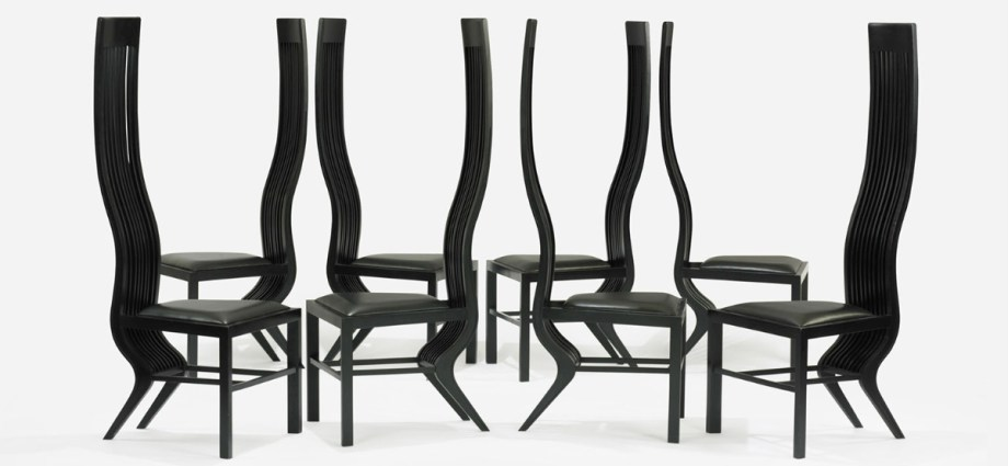 Set of eight chairs by Arata Isozaki featured image
