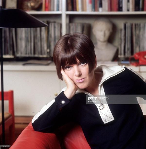 Circa 1965: Fashion guru and dress designer Mary Quant at her home.