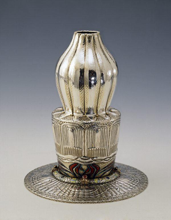 Jacob Prytz. Vase. Silver and enamel.