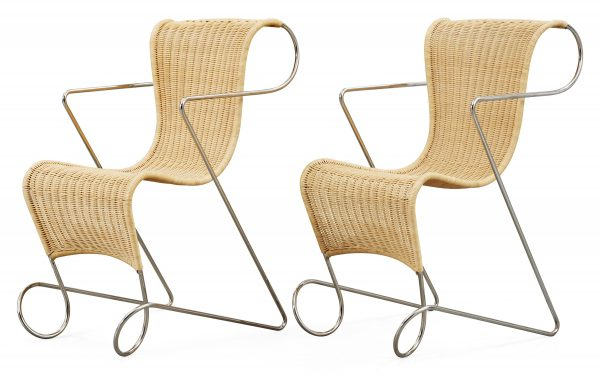 A pair of Ron Arad 'Zigo Zago' chairs, Driade post 1993
