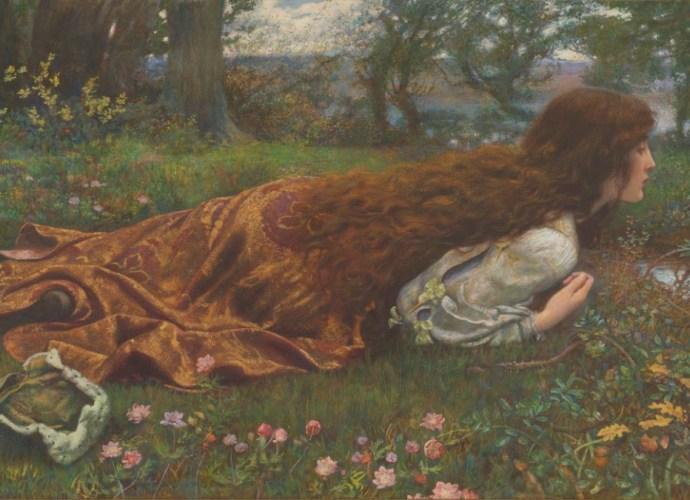 Edward Robert HUGHES English 1851–1914 The princess out of school (