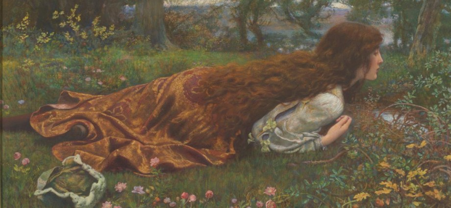 Edward Robert HUGHES English 1851–1914 The princess out of school (