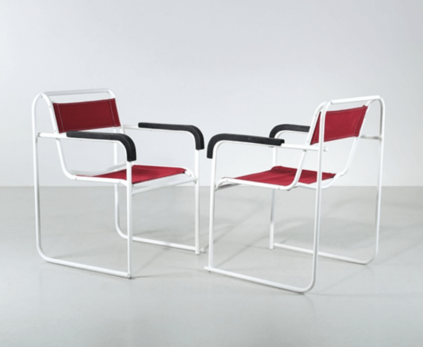 Two RP7 stacking chairs by Bruno Pollack (1932)