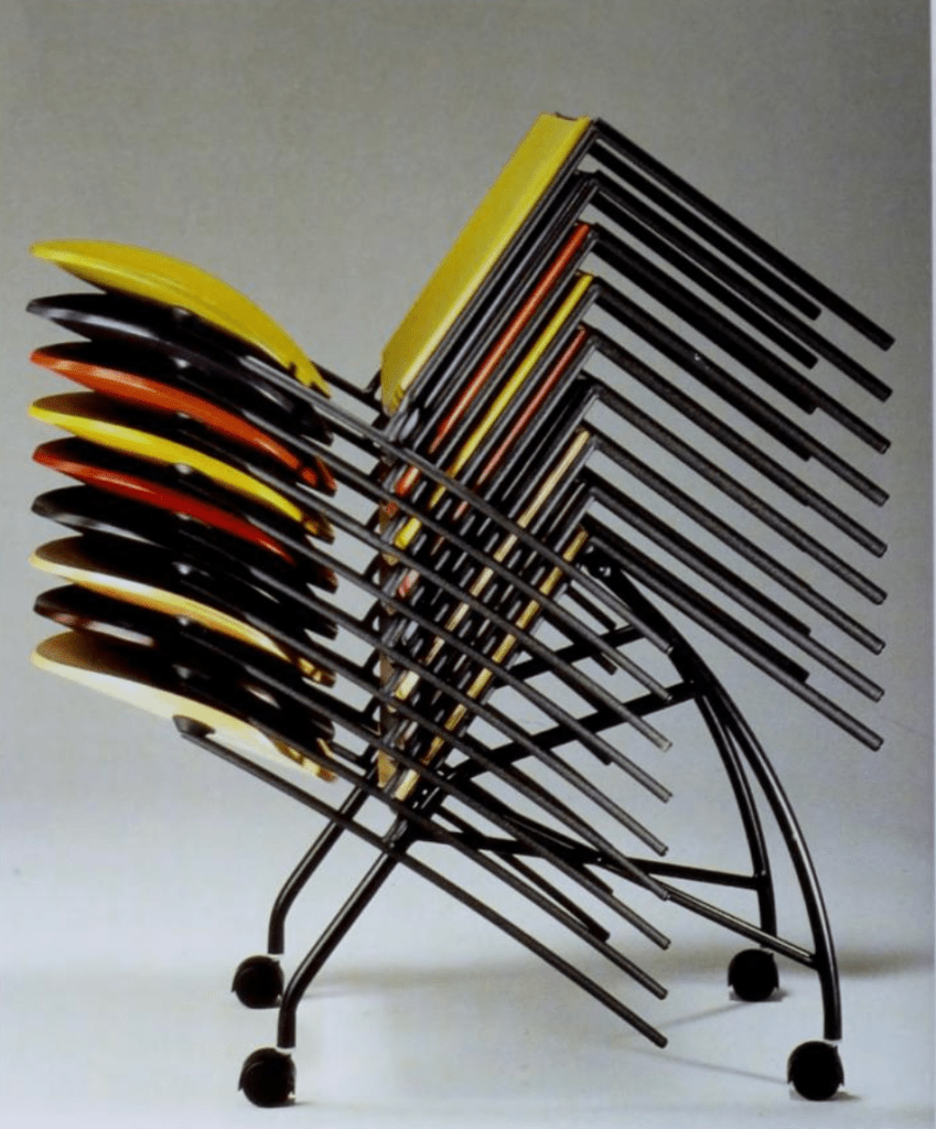 'Vik-ter range' stacking chair designed by Dakota Jackson