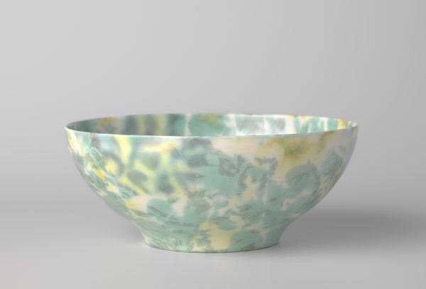 Bowl with marbled decor made by Plateelbakkerij Ram