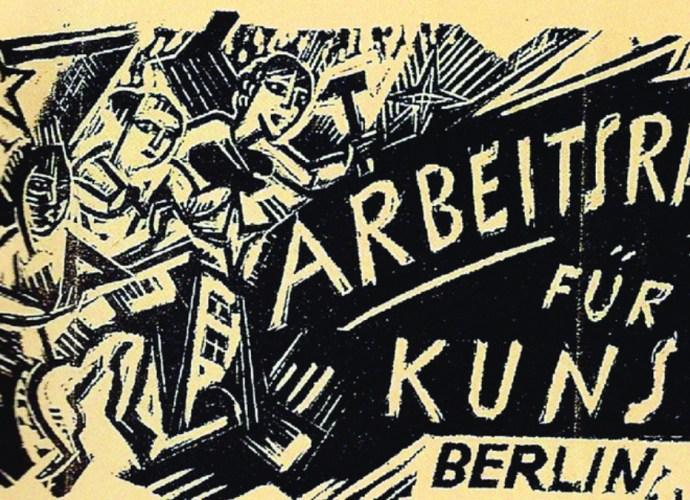 Stamp of the Arbeitstrat für Kunst, 1918.