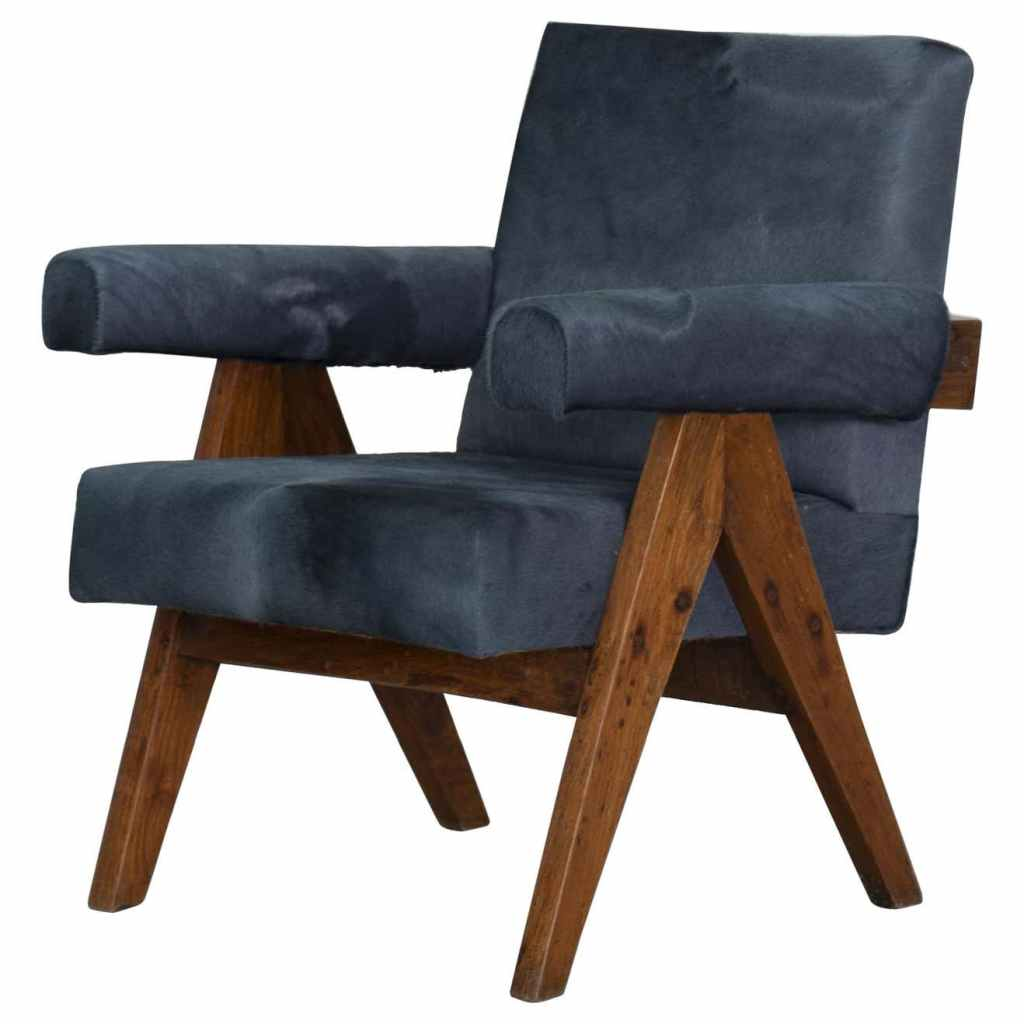 Pierre Jeanneret PJ-SI-32-A Authentic, Rare Upholstered Easy Chair