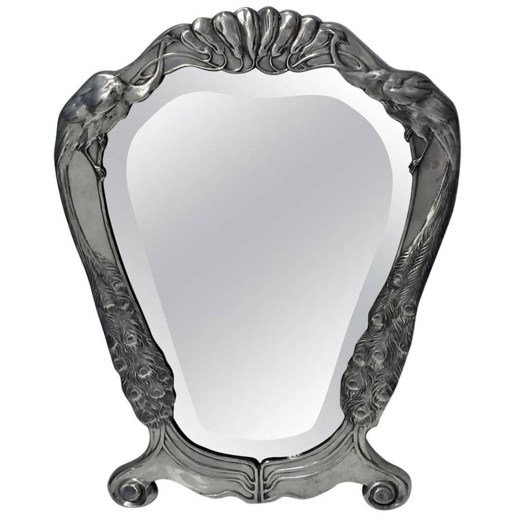 Art Nouveau Jugendstil mirror designed by Friedrich Adler