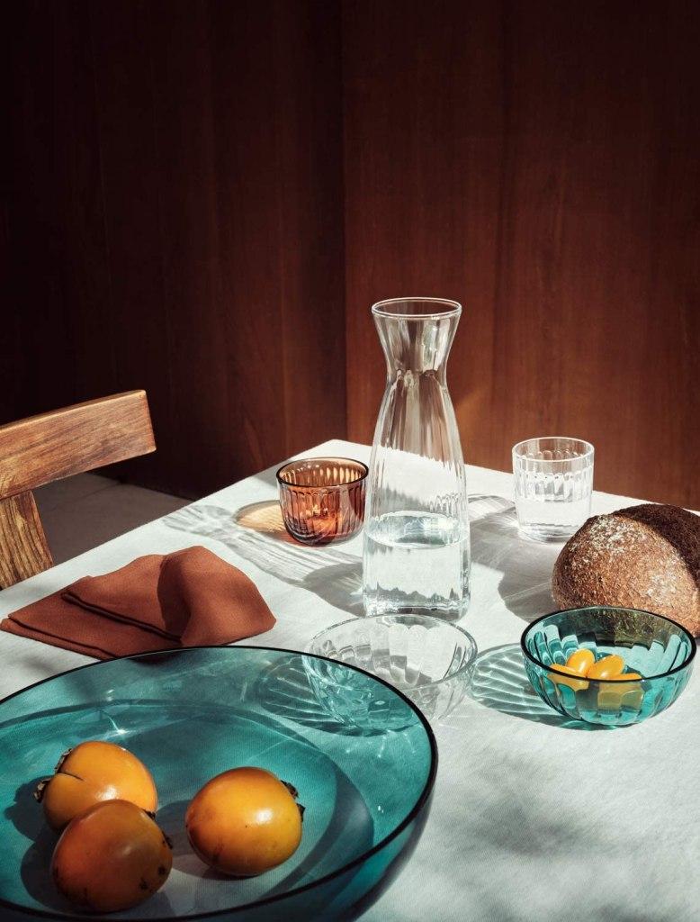 Iittala Raami 12-Ounce Glass Bowl, Sea Blue, by Jasper Morrison