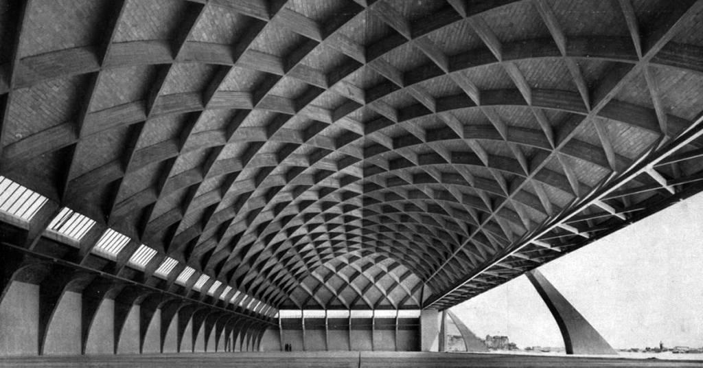 Pier Luigi Nervi. Aircraft hangar, Orvieto, Italy, 1935.