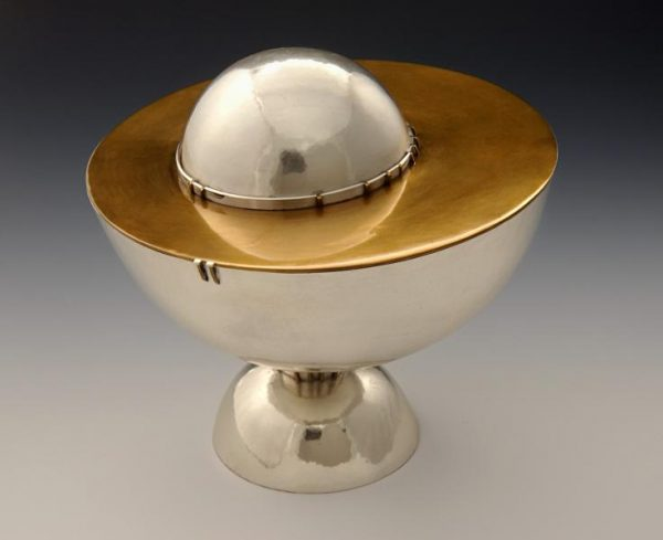 Balanced Bowl, 1974, sterling silver and red brass designed by Alma Eikerman