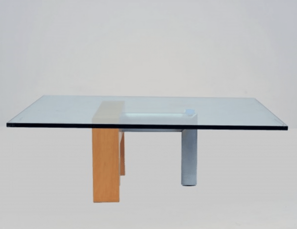 Low table in glass by Daniela Puppa