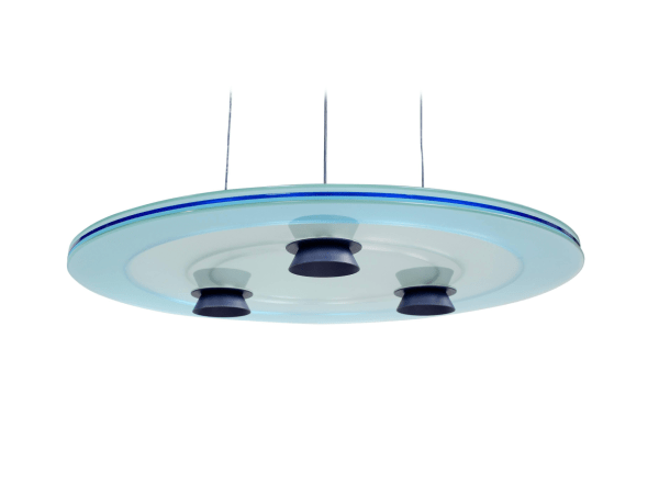 """Blue """"Aurora"""" Pendant by Perry King and Santiago Miranda for Arteluce"""