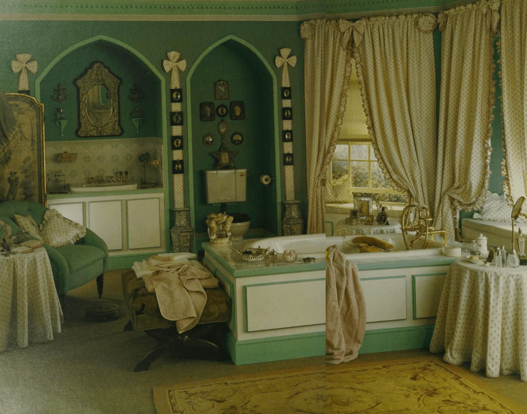 Victorian Gothic mood in emerald green - Laura Ashley inspired
