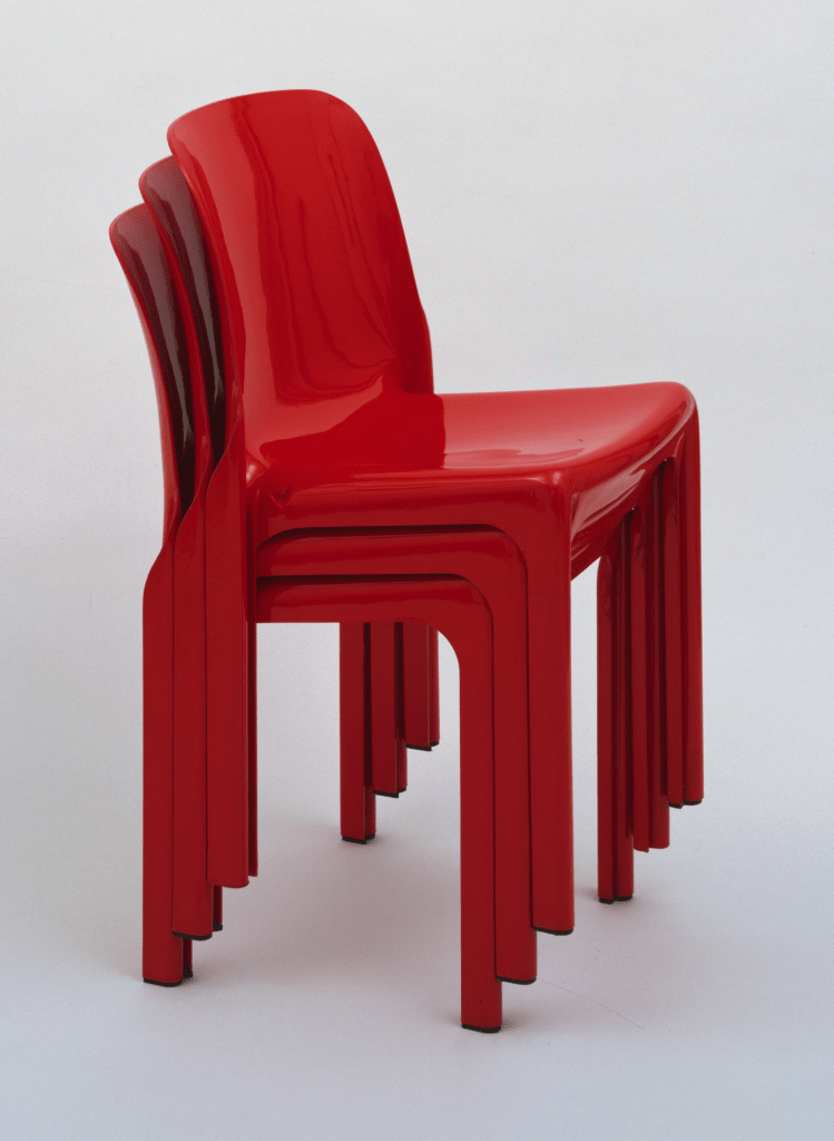 Selene Stacking Chairs 1968 by Vico Magistreeti