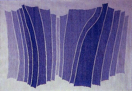 Blue Gradations – Woven Hanging, c. 1975 by Theo Moorman
