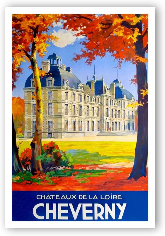 Vintage travel poster Cheverny postcard set