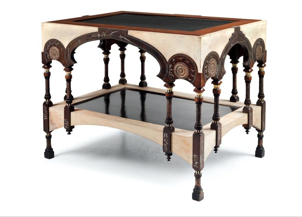 Eugenio Quarti (Bergamo 1867-1929 Milan), library table, Milan, 1898