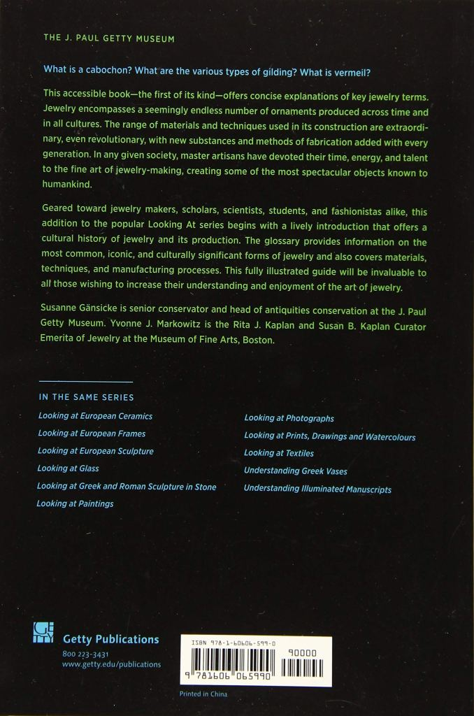 Looking at Jewelry cover artwork - back cover