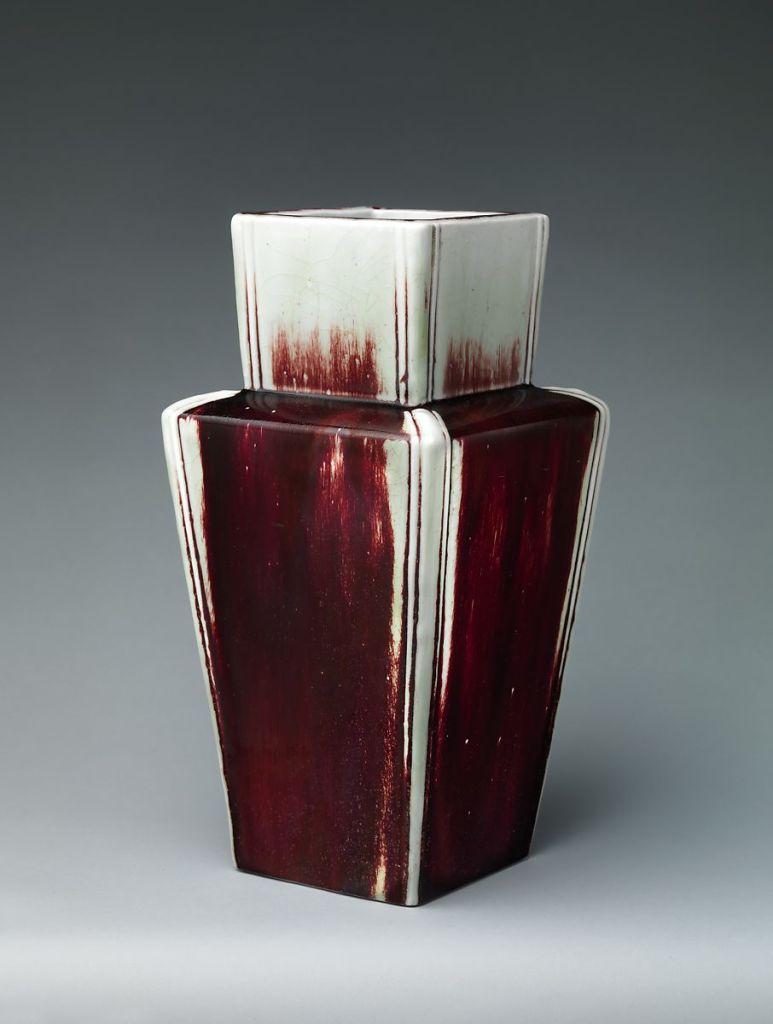 Ernest Chaplet (French, Sèvres 1835–1909 Choisy-le-Roi) Square vase, ca. 1889
