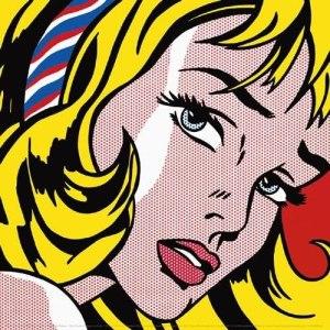 Roy Lichtenstein - Girl With Hair Ribbon, 1965 Art Print