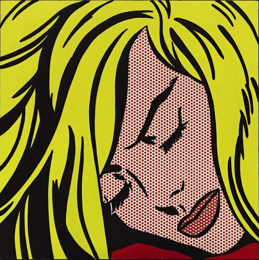Sleeping Girl by Roy Lichtenstein print sample