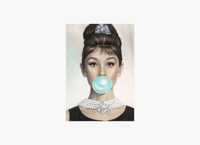 Audrey Hepburn Bubble Gum poster (1)