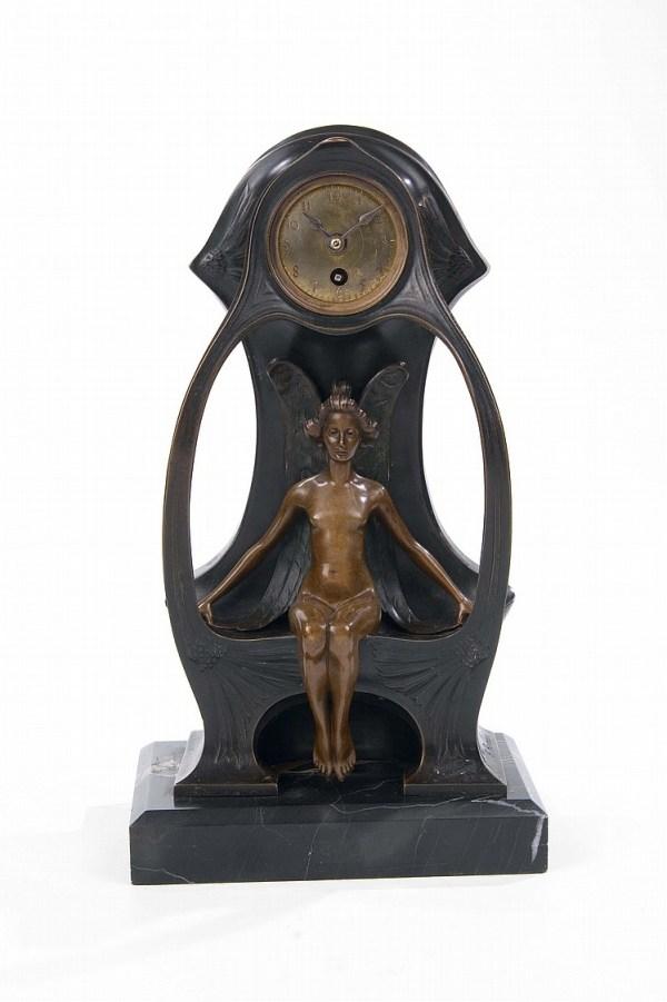Jugendstiluhr - Art Nouveau Clock by Albert Reimann