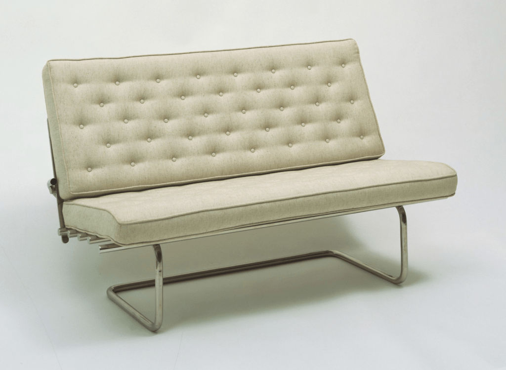 Couch designed 1930 - 1931 (this example manufactured in 1981) by Marcel Breuer.