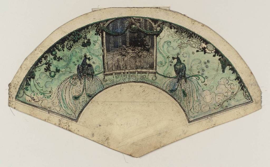 Design for a Fan by George Sheringham 1884-1937