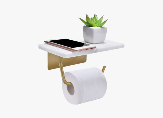 Toilet holder with shelf featured image