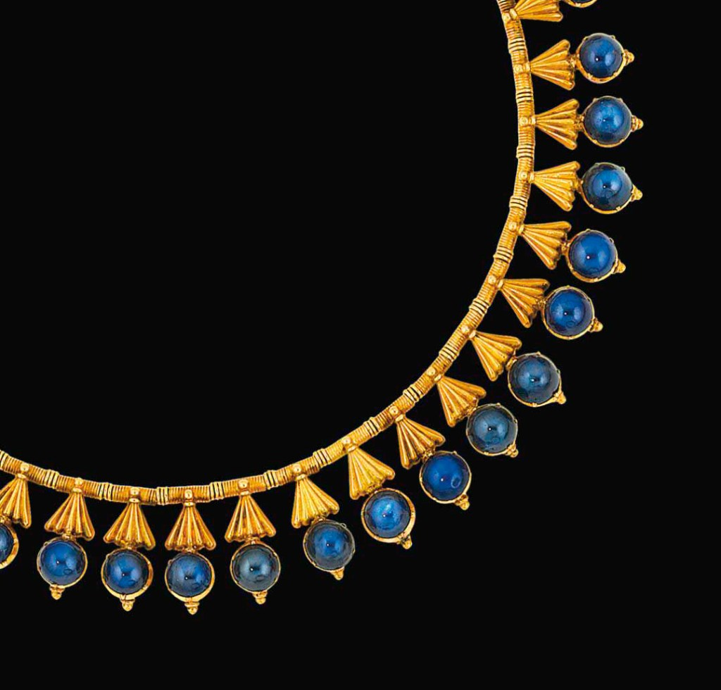 A sapphire fringe necklace attributed to Carlo Guilano