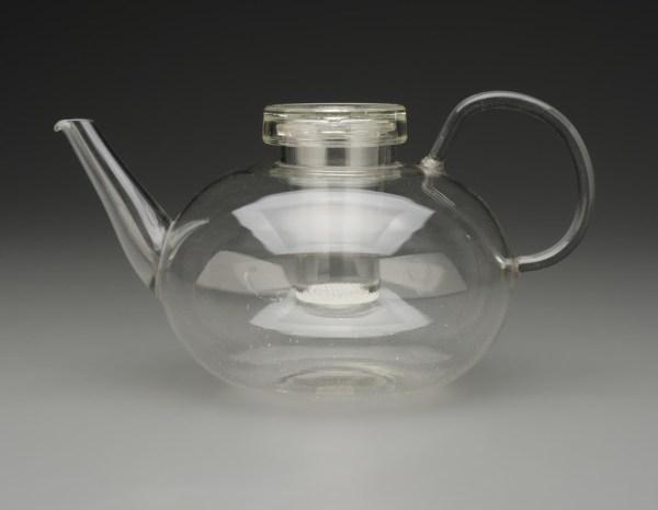 Teapot, 1930 - 1934 glass designed by Wilhelm Wagenfeld