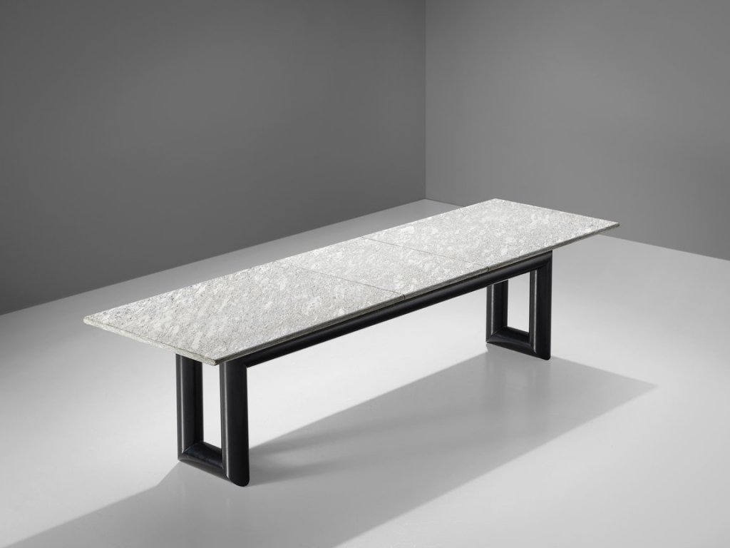 Mario Botta Dining Table Model 'Terzo' with Granite Top