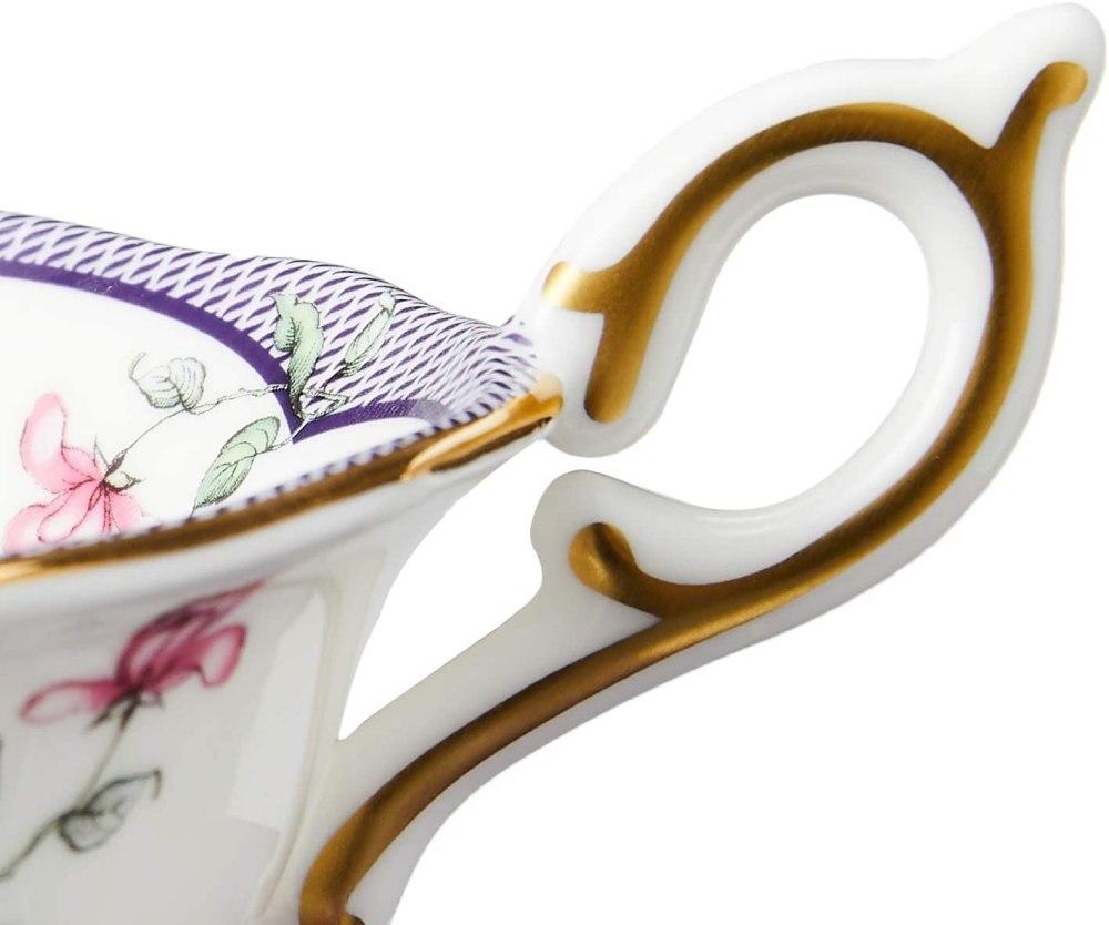 Wedgwood Wonderlust Teacup & Saucer Set Midnight Crane, 2 Piece