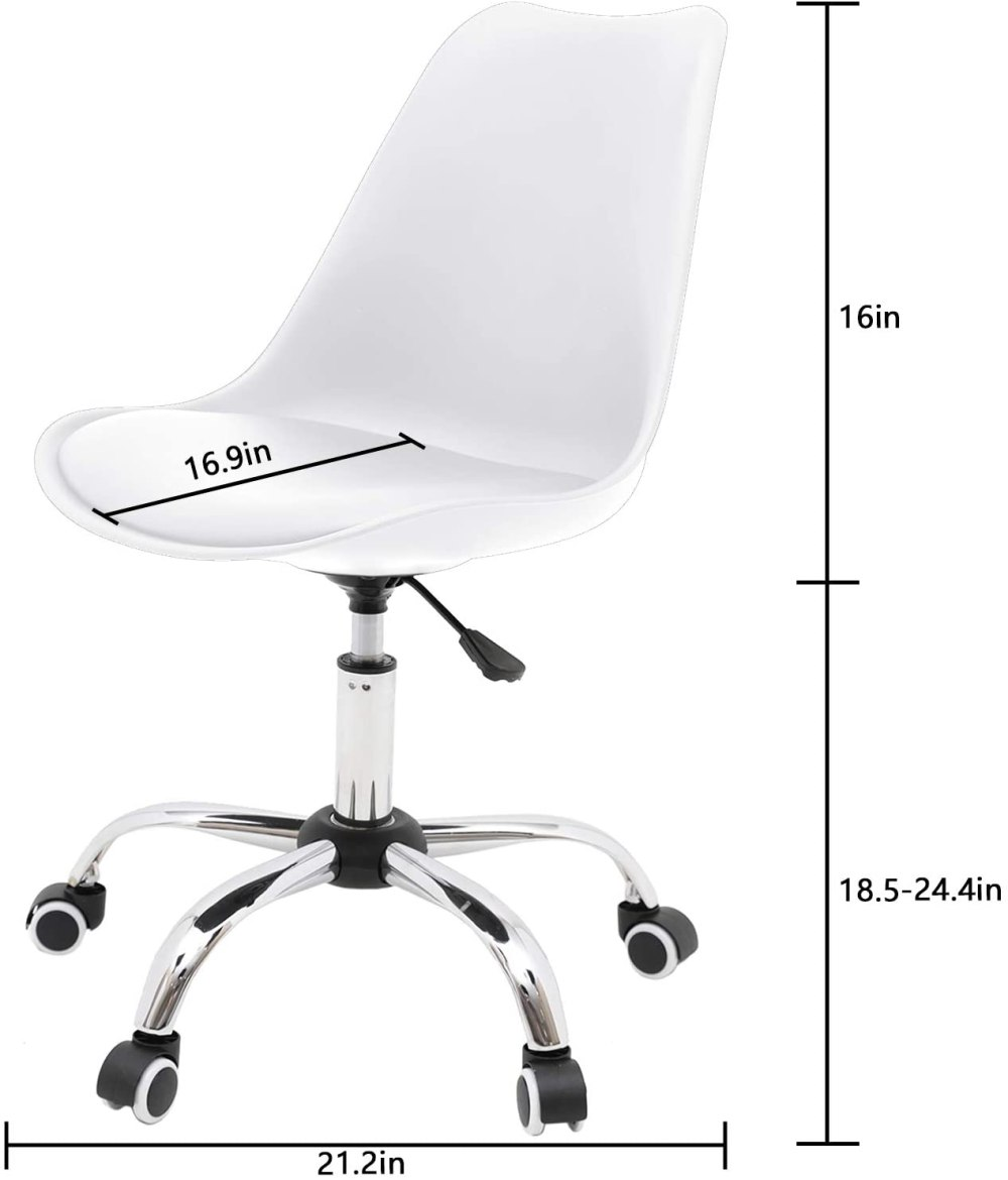 Ergonomic Computer Chair with Cushion and Wheels