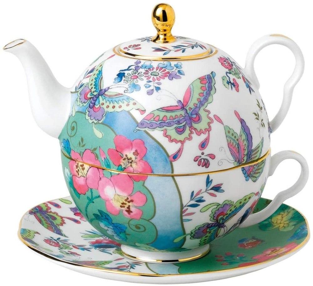 Wedgwood Butterfly Bloom, teacup, teapot, Multi