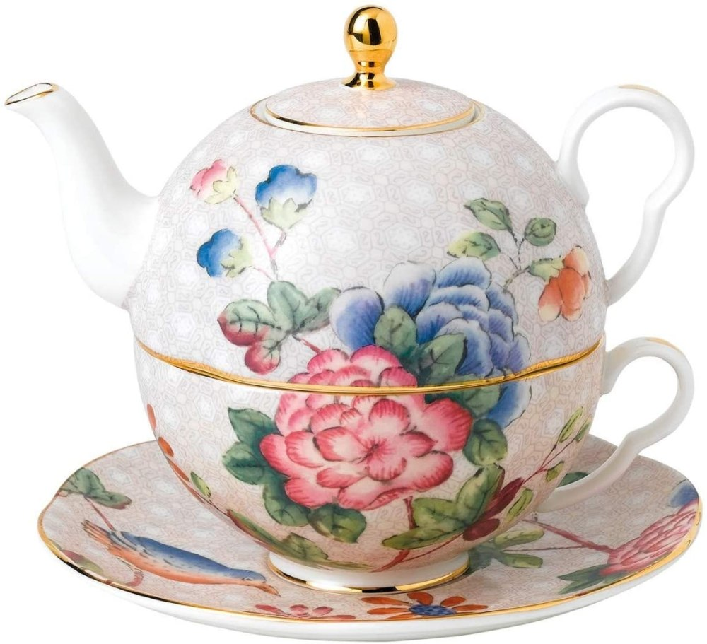 Wedgwood Cuckoo Tea for one, teapot 19.6 oz, teacup 12.2 oz, Multicolor