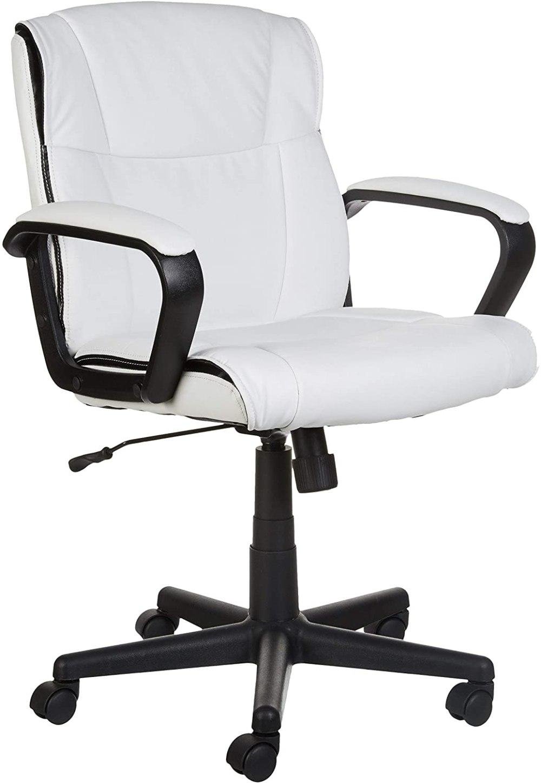 1Amazon Basics Padded, Ergonomic, Adjustable, Swivel Office Desk Chair