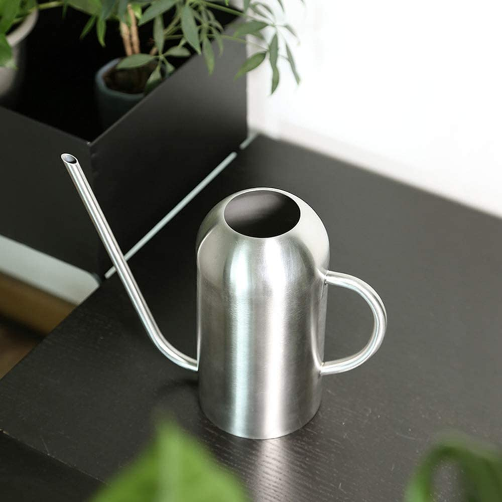 Fasmov Stainless Steel Watering Can with Long Spout Modern Style Watering Pot, 53oz/1.5L