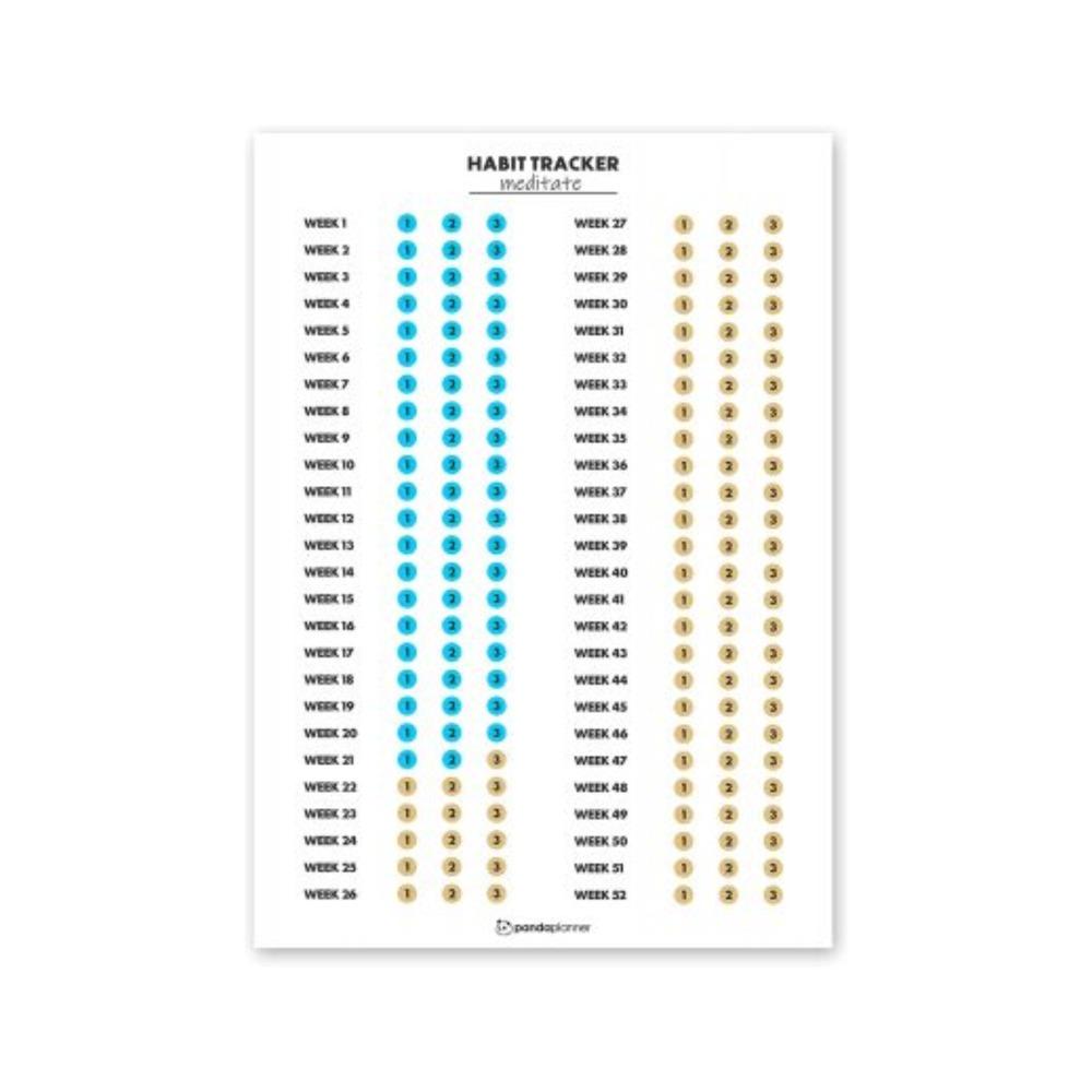 Habit Tracker Calendar by Panda Planner