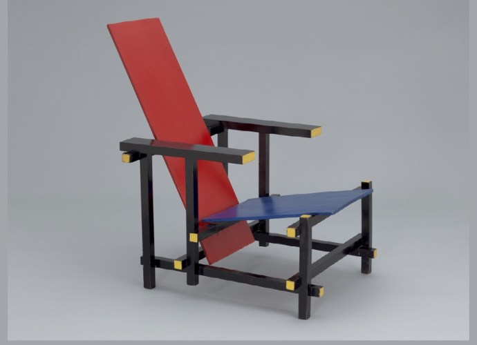 Red and Blue Armchair by Gerrit Rietveld