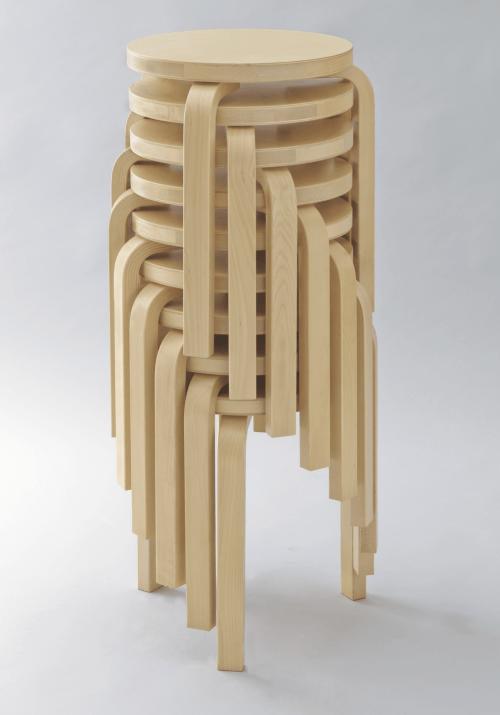 Stacking Stools (model 60) designed by Alvar Aalto