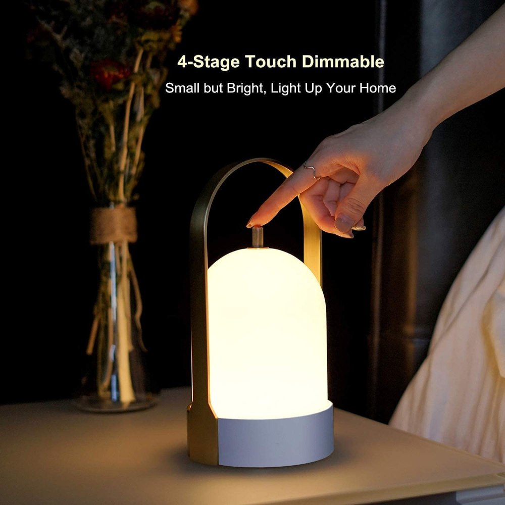 Tubicen Portable LED Table Lamp, 4000mAh Battery Operated Lamp for Table