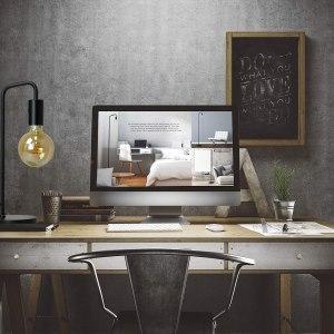 O'Bright Industrial Desk Lamp, 100% Metal Lamp