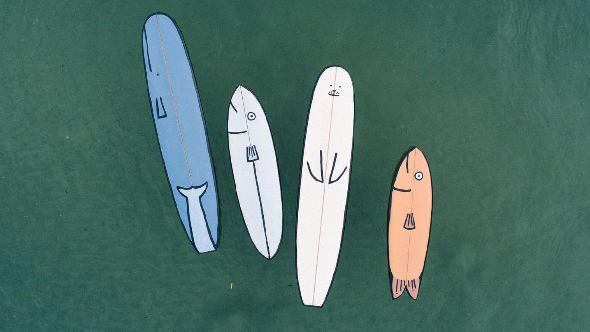 Smiling surfboards by Jean Julien